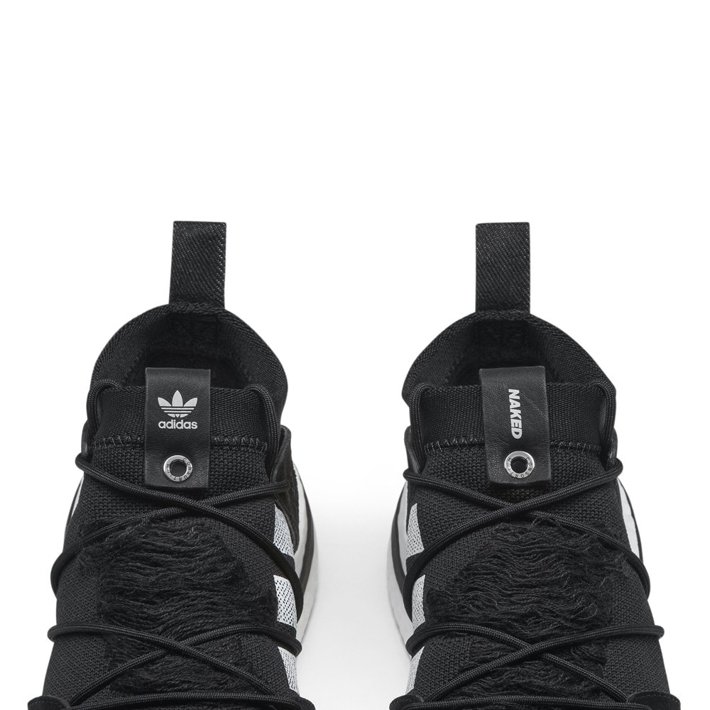 adidas consortium x naked arkyn boost core black white