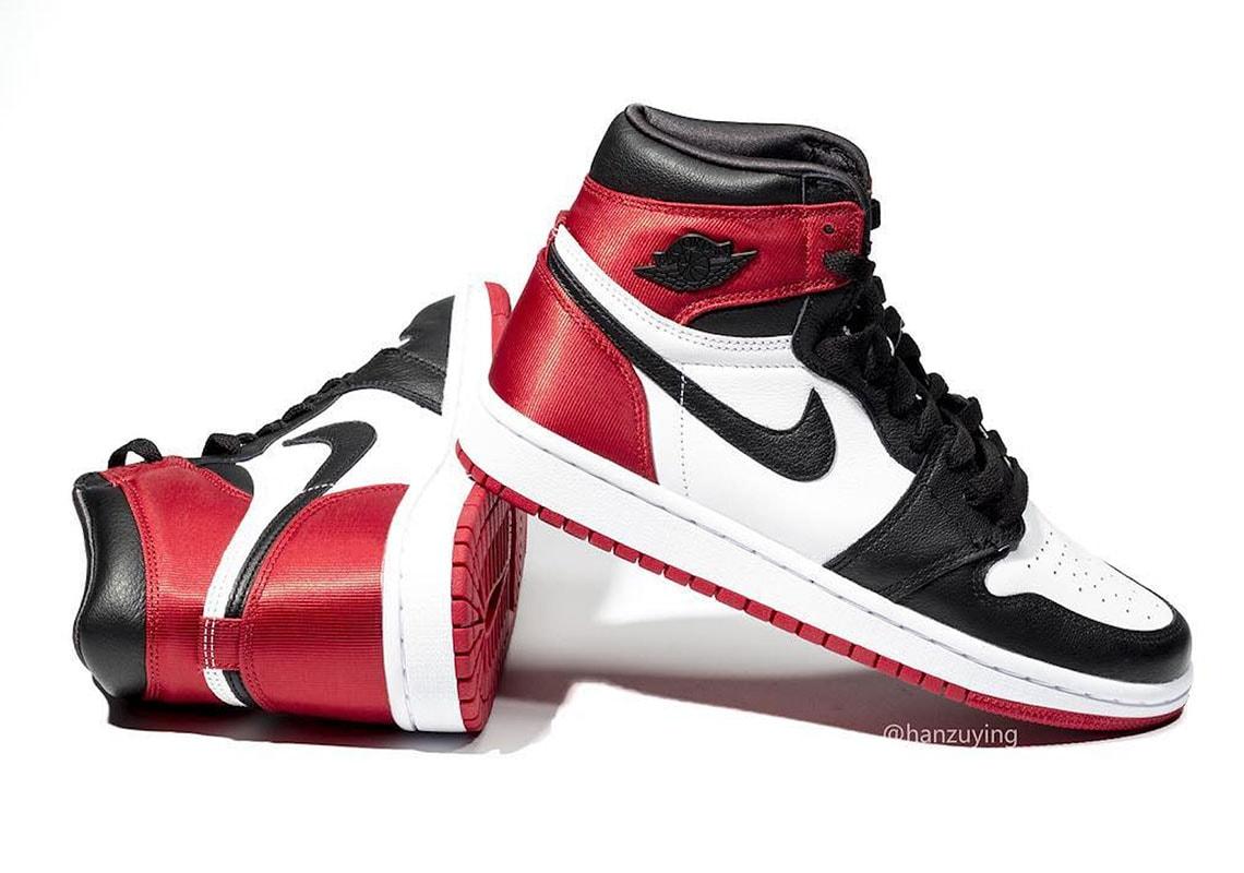"""Air Jordan 1 """"Black Toe"""" Satin RAFFLE"""