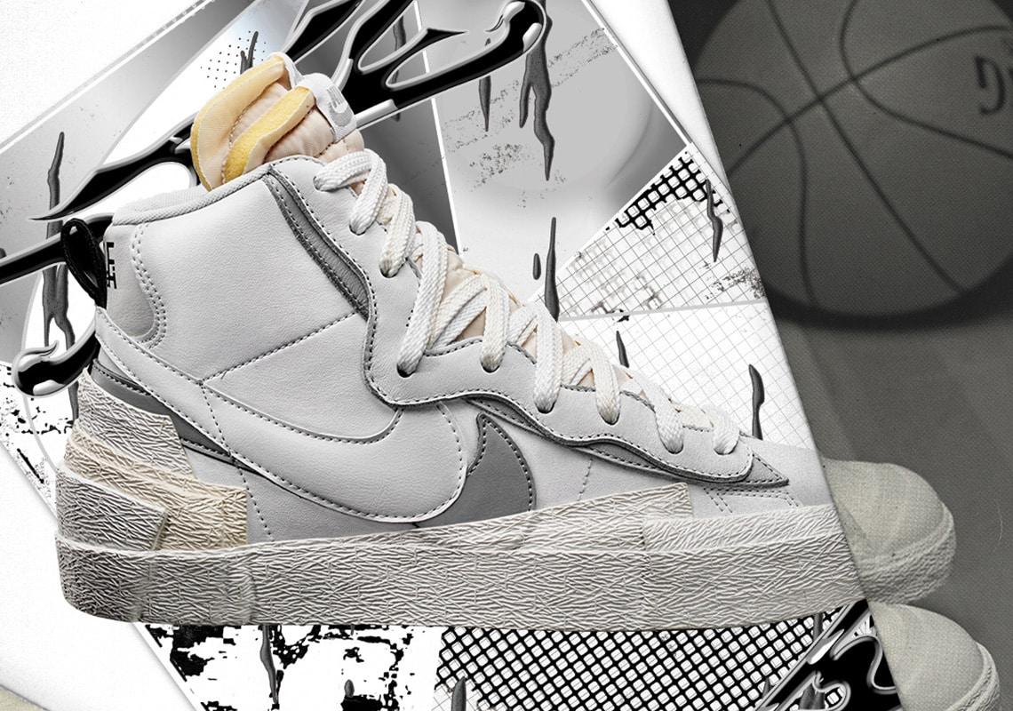 Nike x Sacai Blazer Mid White Store and
