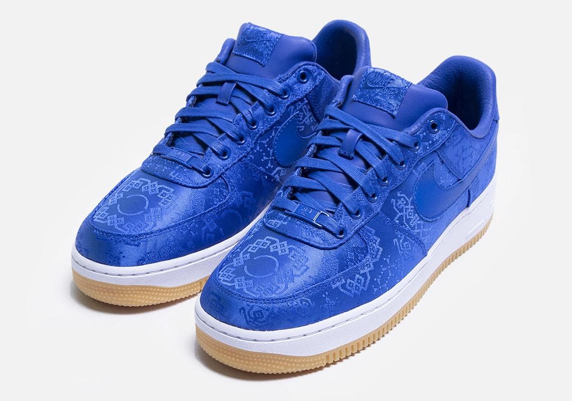 CLOT x Nike Air Force 1 Blue Silk