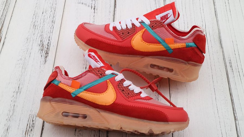 OFF-WHITE AIR MAX 90 'UNIVERSITY RED'