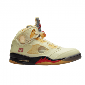 "Off-White x Air Jordan 5 ""Sail"""