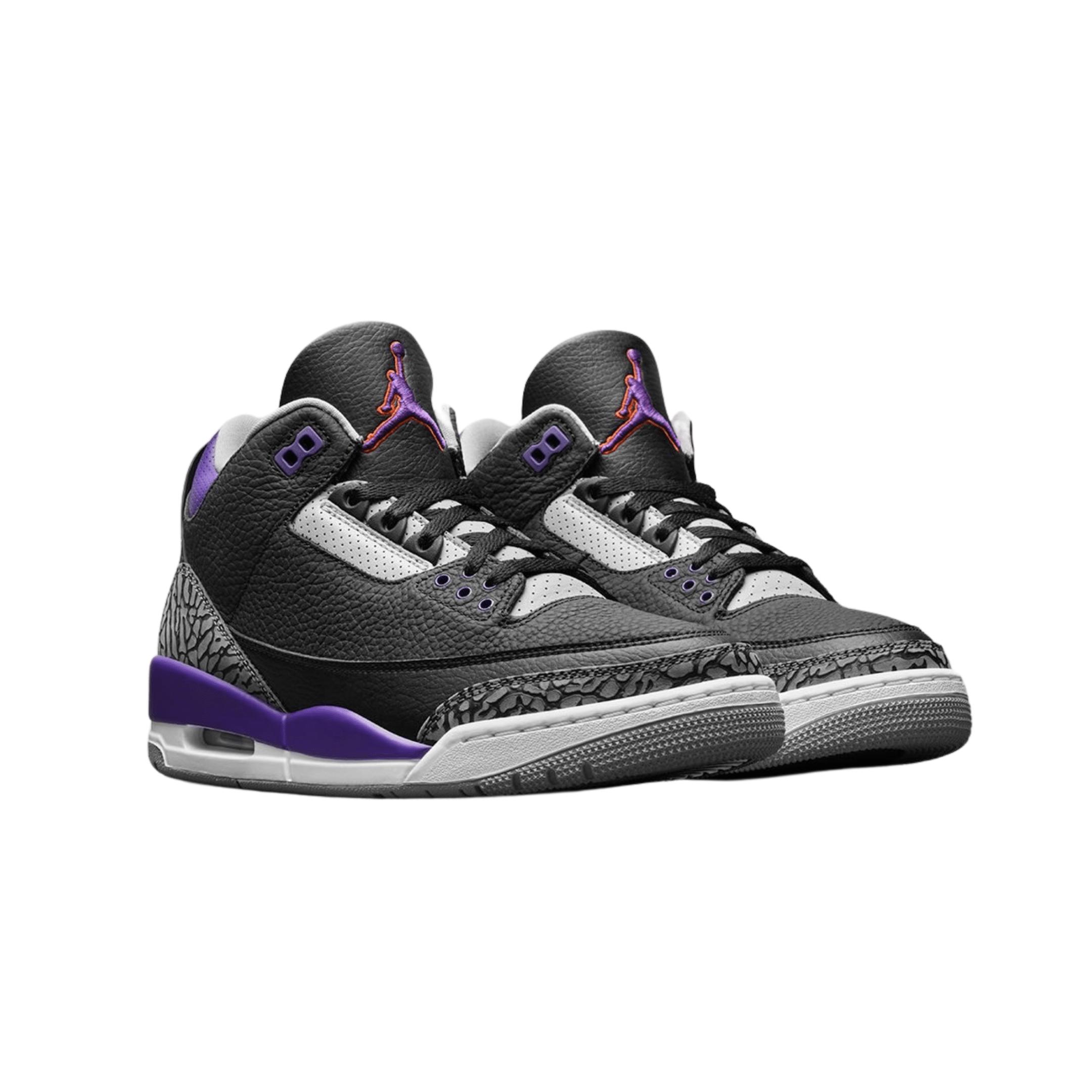 Nike Air Jordan 3 Black Court Purple-2