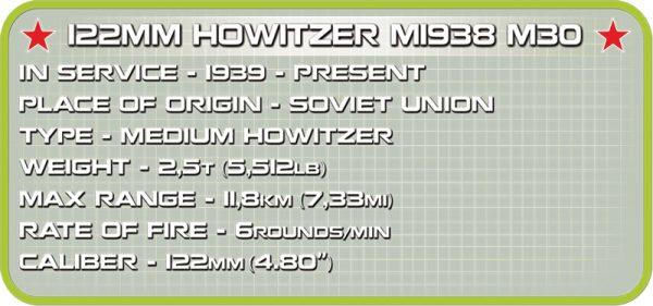 cobi 2395 122 mm Howitzer m1938 M