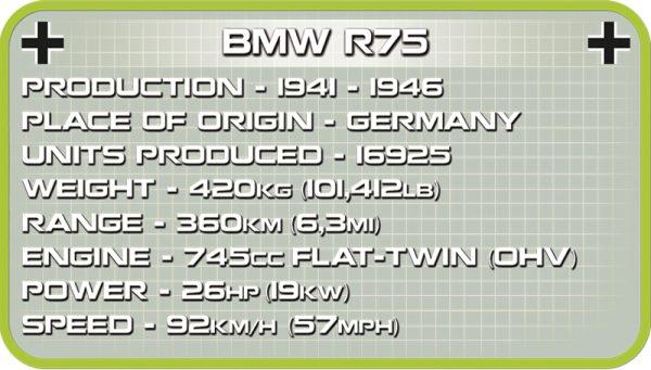cobi 2397, 1942 BMW R75 w/Sidecar