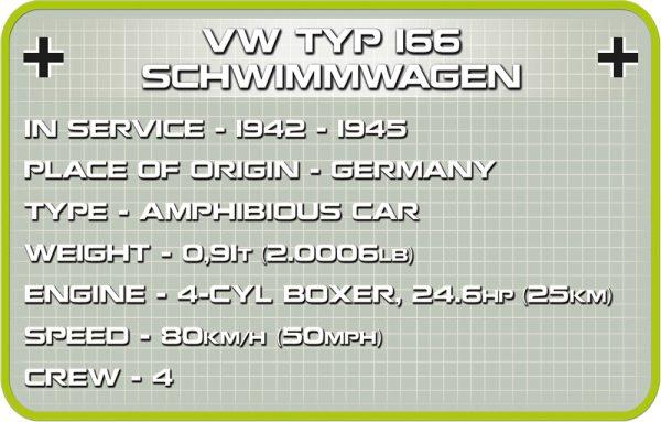 COBI 2403, VW Type 166 Schwimmwagen