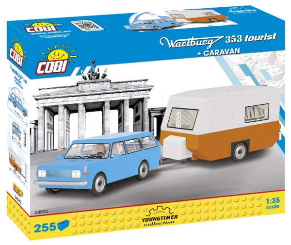 COBI 24592, Wartburg 353 Tourist+caravan