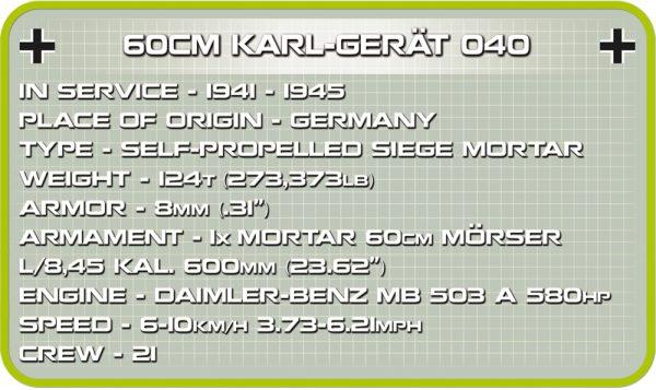 COBI 2530, 60CM Karl-Gerat 040 Adam