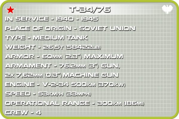 COBI 2706, T34/76