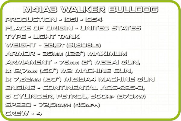 COBI 2239, M41A3 Walker Bulldog