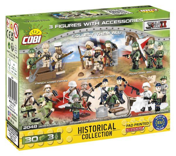 COBI 2048, D-Day collection, 3 minifigures