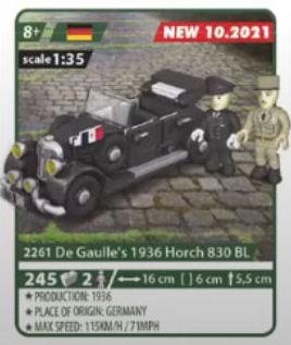 COBI 2261, De Gaulle's 1936 Horch 830 BL