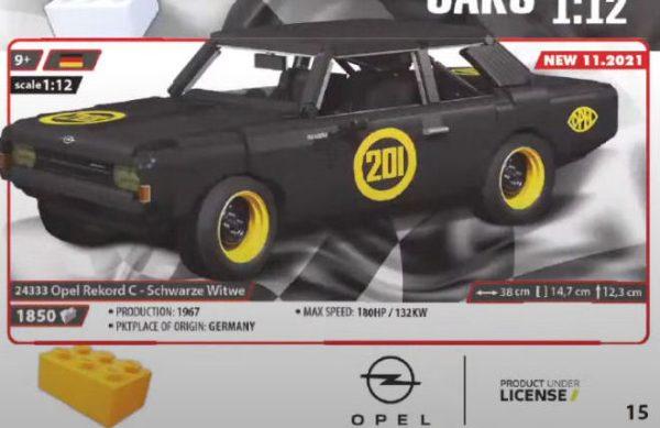 COBI 24333, Opel Rekord C - Schwarze Witwe