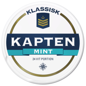 Kapten mint white portion snus
