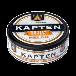 Kapten Vit Melon Extra Stark Portionssnus