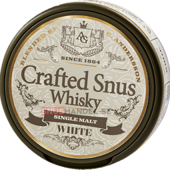 crafted whisky snus white