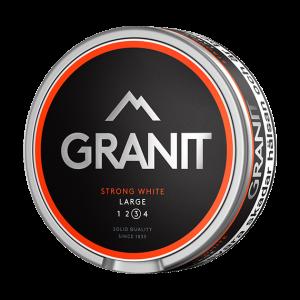 Om produkten Granit Strong White Portion Large Granit Stark Vit är ett snus med kraftig tobakskaraktär som ger en större upplevelse. I vita portioner bibehålls fukten inuti prillan för att ge en långvarig snusupplevelse med låg rinnighet. Granit snus tillverkas av Fiedler och Lundgren här i Sverige och finns i många olika utföranden. Kolla gärna in Granits övriga sortiment här. Fakta om produkten Varumärke Granit Produkttyp White portion Vikt 0.3571 Styrka Starkt Nikotinhalt 16 mg/g Innehåll/förpackning (gram) 17,6 Snustyp Stark Vit Format Normal Producent BAT