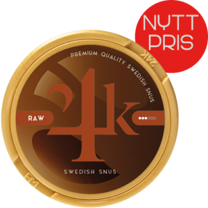 24K Raw Strong White Dry snus