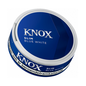 Knox Slim Original White Portionssnus knox slim white portionssnus blue slim portion