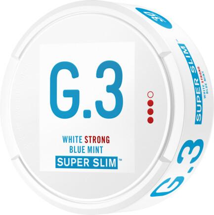 General G.3 Super Slim Mint Strong Portionssnus General G.3 Superslim Mint Strong Portionssnus har tydliga inslag avmint, samt en aning av eukalyptus och ceder. Det är ett starkare snus i en långsmal portionspåsemed låg rinnighet och varaktig smakrelease. Detvarar alltså längre och rinner mindre än vanliga portionssnus. G.3-serien består av Swedish Match:s egenutvecklade slimformat, med olika nikotinstyrka och flera olika smaker. G.3 togs fram med nyaegenskaper, tydligare smak och ny design i åtanke. General G.3 Original Slim Strong Portionssnus I slimmade portioner vars lätt fuktiga yta snabbt släpper lös smaken levereras detta kvalitativa snus av märket General G.3. Snuset har tydliga inslag av citrus och bergamott, vilket ligger i linje med Generals klassiska smak. Utöver detta kan även en liten arom av läder och te infinna sig. G.3 LOAD Slim White Dry Super Strong Portionssnus General G.3 LOAD Slim White Dry Super Strong Portion är ett starkt, vitt och torrt snus från Swedish Match. Snuset har 20% lägre rinnighet och innehåller 30% mer nikotin jämfört med vanliga General G.3 Extra Strong. General G.3 LOAD Slim White Dry Super Strong Portionsmakar av lakrits och eukalyptus, samt en touch av anis, kakao och honung. Detta kombineras med en ljus och kryddig tobakskaraktär. Snusets låga rinnighet och höga nikotinhaltger både en långvarig smak och styrka. General G.3 T.N.T Slim White Dry Super Strong Portionssnus General G.3 T.N.T Slim White Dry Super Strong Portion är en kraftfull nyhet från Swedish Match. Snuset har en tydlig, ljus och kryddiggrundsmak av tobak ochsmakpaletten innehåller annars inslag avgröna örter, ek, ceder och nöt. Nikotinstyrkan i de slimmade och torra whiteportionerna landar på 26 mg/g och gör snuset 30% starkare än G.3 Extra Strong. Rinnigheten är också 20% lägre än G.3-portioner i vanligt slim-white-format. Om produkten General G.3 Extra Strong Slim White Portionssnus General G.3 Extra Strong Slim White har en optimeradpassform, högnikotinhal