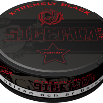 Siberia X-Tremely Black Portionsnus Senaste nyheten från GN Tobacco – Siberia Black Portion nyhet, new back siberia
