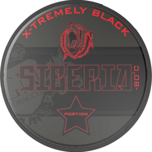 Siberia X-Tremely Black Portionsnus