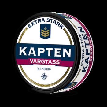 Kapten Vargtass Extra Stark Vit Portion snus