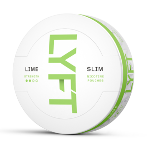 LYFT Lime Strong Slim All White Portion snus