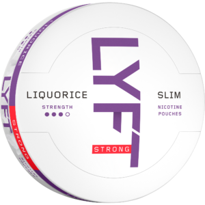 lyft liquorice slim all white snus