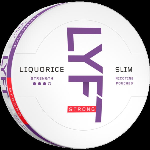 lyft liquorice slim all white snus