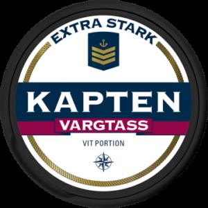 Kapten Vargtass Extra Stark Vit Portionsnus