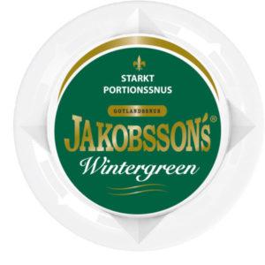 Jakobssons Wintergreen Strong Portionssnus, snushandel i nyköping ab snus