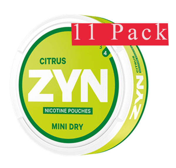 zyn citrus mini 6mg 11 pack