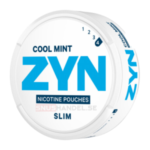 Zyn slim cool mint strong all white snus