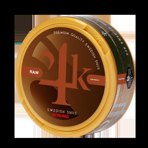 24K snus raw Strong White Dry snus