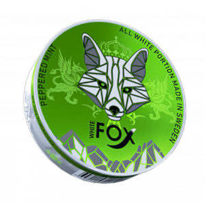 White Fox Peppered Mint Slim All White Portion