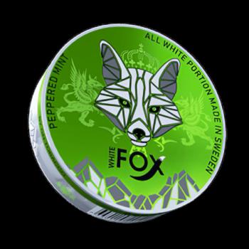 White Fox Peppered Mint Slim All White Portion
