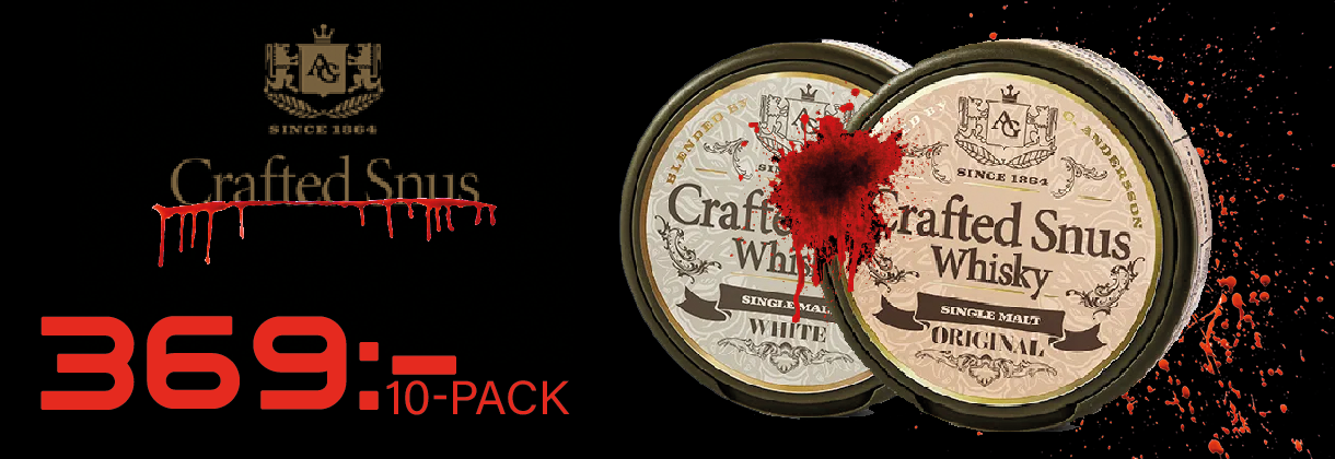 crafted whisky snus