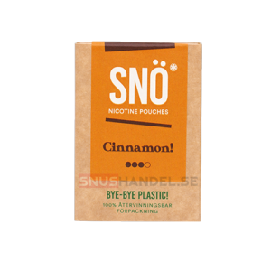snö cinnamon all white snus mini