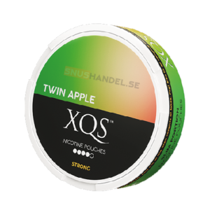 xqs twin apple all white snus