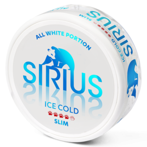 sirius ice cold slim all white snus