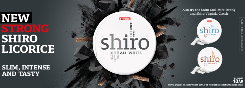 shiro lakrits all white snus banner