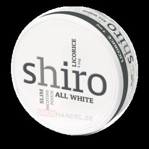 shiro licorice all white snus