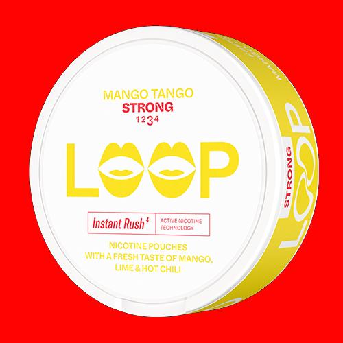 loop mango tango strong all white snus