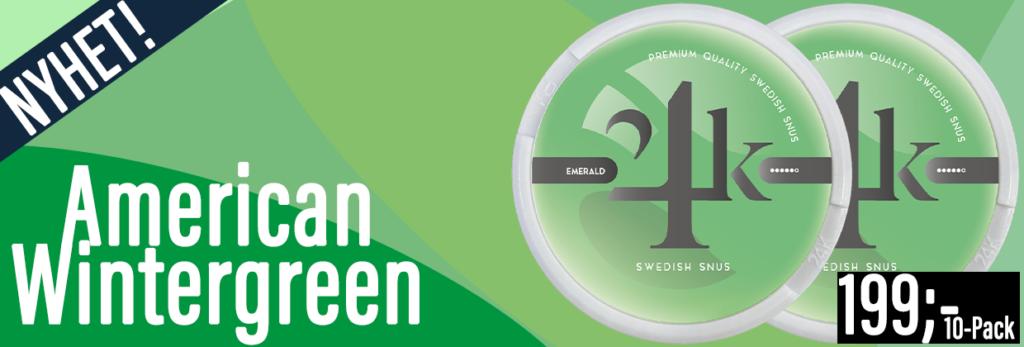 24k wintergreen emerald snus banner