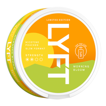 Lyft morning bloom all white snus limited edition