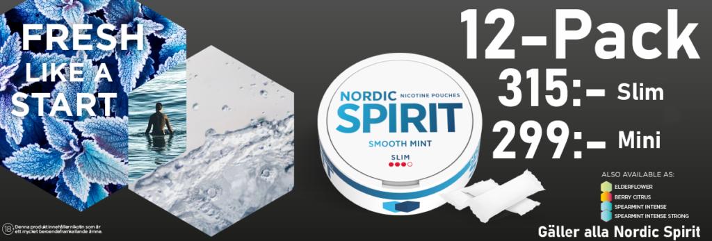 nordic spirit all white snus banner