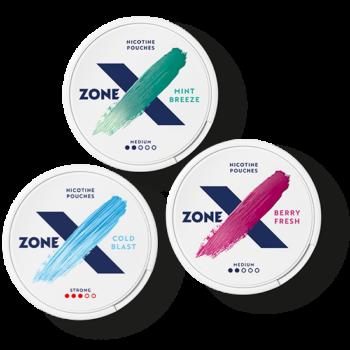 zonex all white snus mixpack