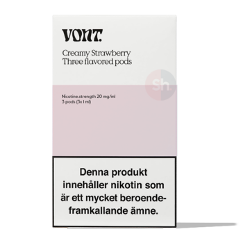 VONT Creamy Strawberry – 3 Pods
