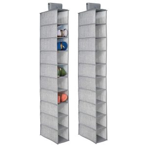 mDesign - étagère a suspendre - gris - 2 pieces